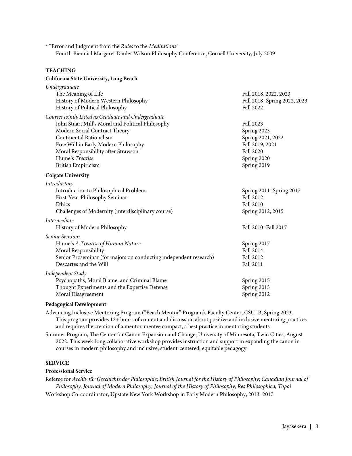 Marie Jayasekera CV page 3 of 4