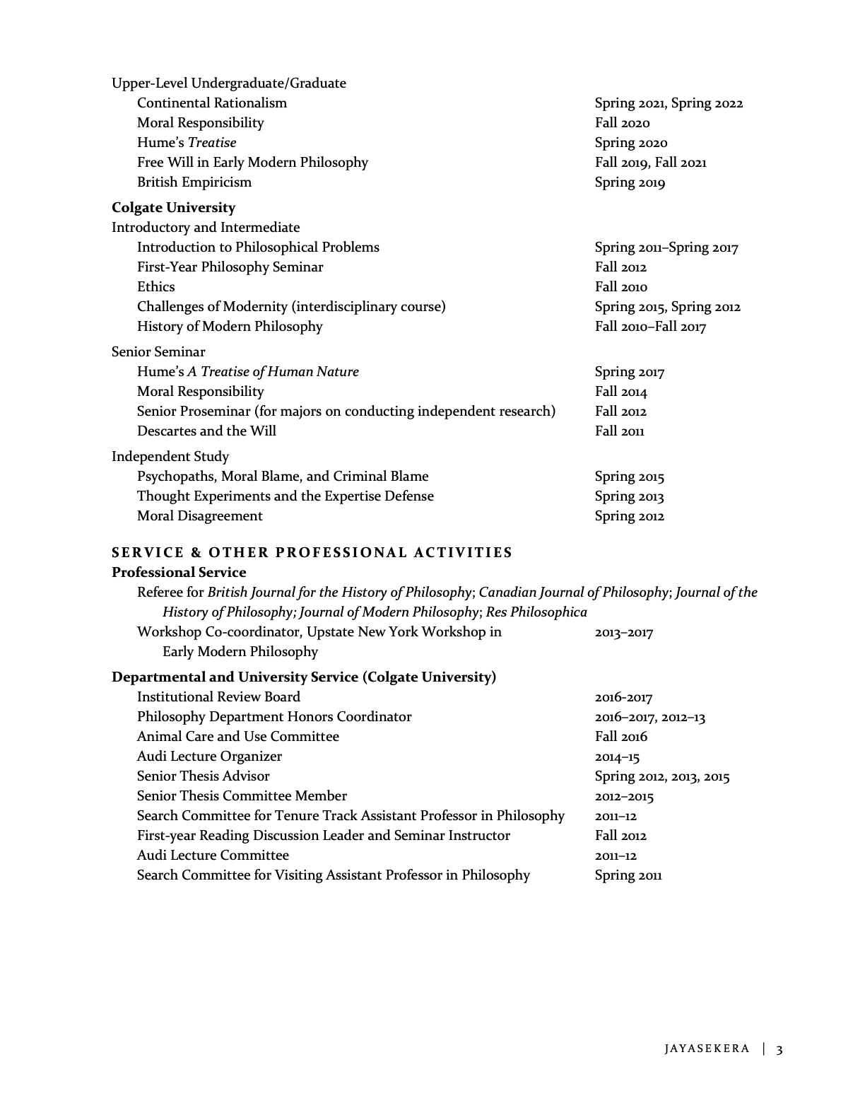 Marie Jayasekera CV page 3 of 3